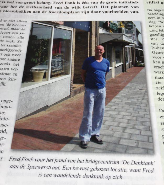 Fred Fonk voor de DenkTank