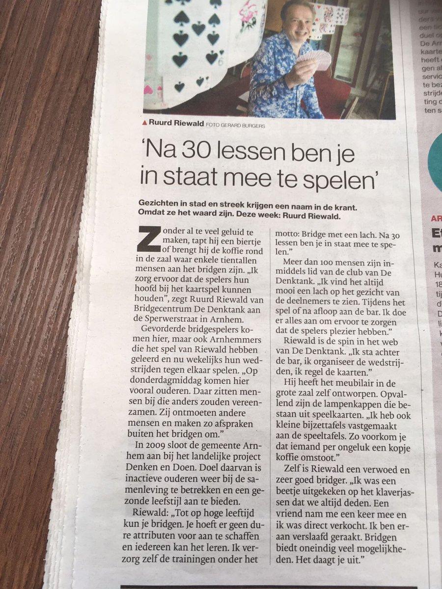 Interview BridgeSchool Arnhem Gelderlander