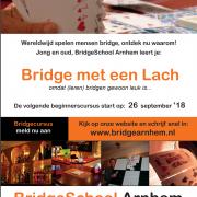 flyer beginnerscursus Bridge met een Lach 2018-2019