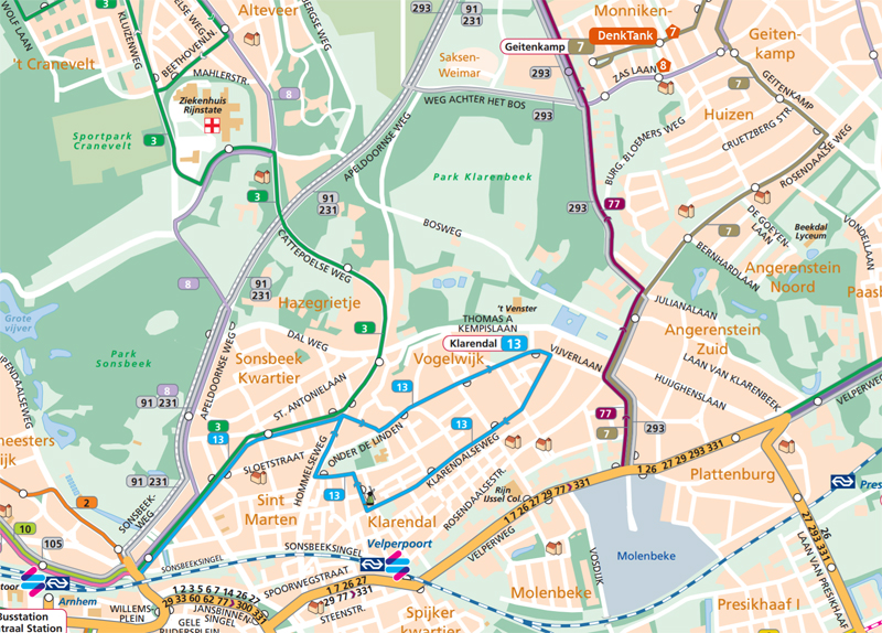 kaart OV DenkTank